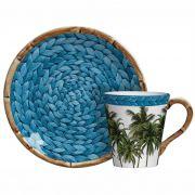 Xícara de Chá c/ Pires Trancoso Tiffany (6 Unidades)