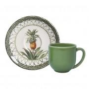 Xícara p/ Café Pineapple Green (6 Unidades)