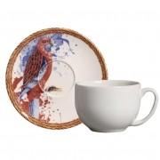 Xícara p/ Chá Parrot (6 Unidades)
