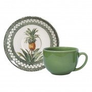 Xícara p/ Chá Pineapple Green (6 Unidades)
