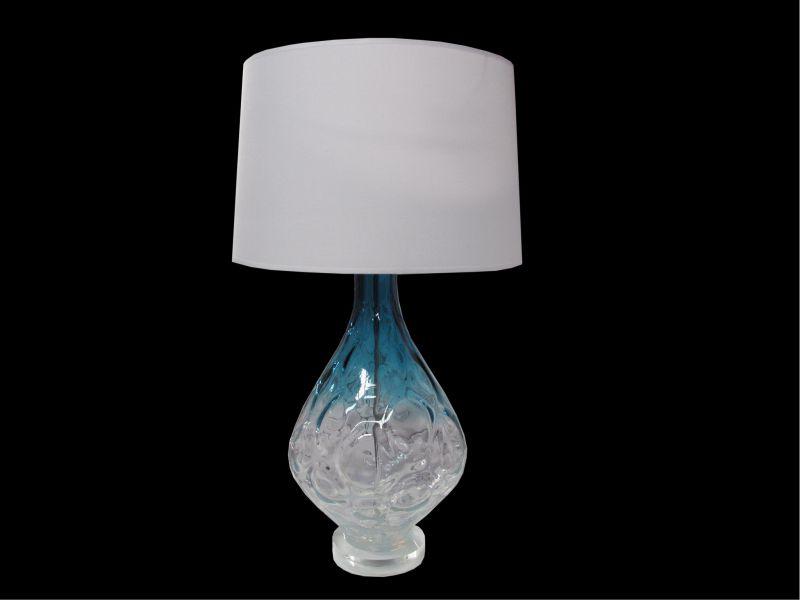 Abajur de Vidro c/ Cupula de Tecido - Cod.: FA140 FR