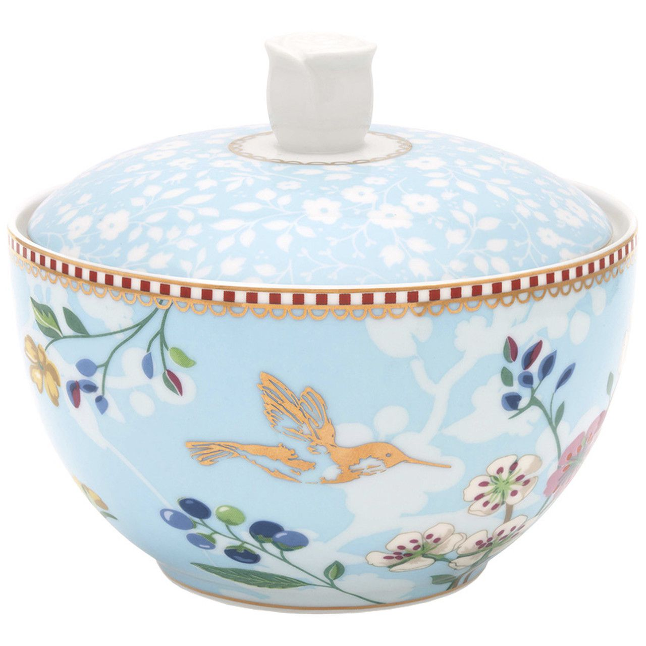 Açucareiro Hummingbirds Azul - Floral - Pip Studio