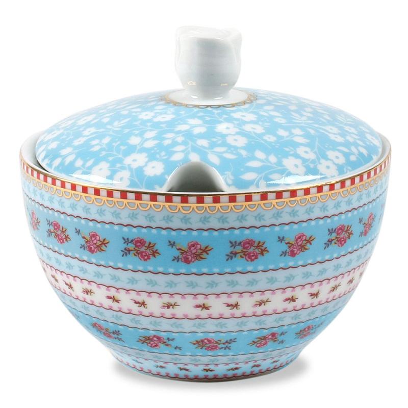 Açucareiro Ribbon Azul Floral Pip Studio