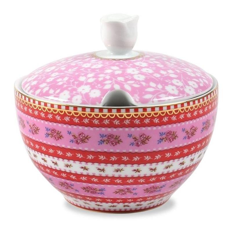 Açucareiro Ribbon Rosa Floral Pip Studio
