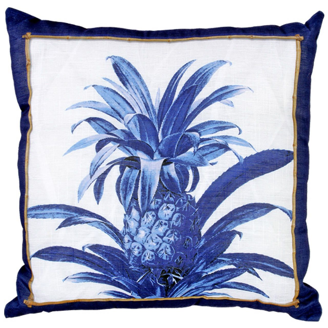 Almofada de Linho Abacaxi Azul