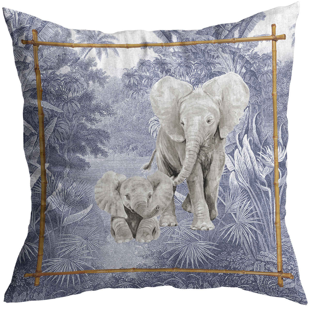 Almofada Elefante African Toile Cód.: 4134 - MB