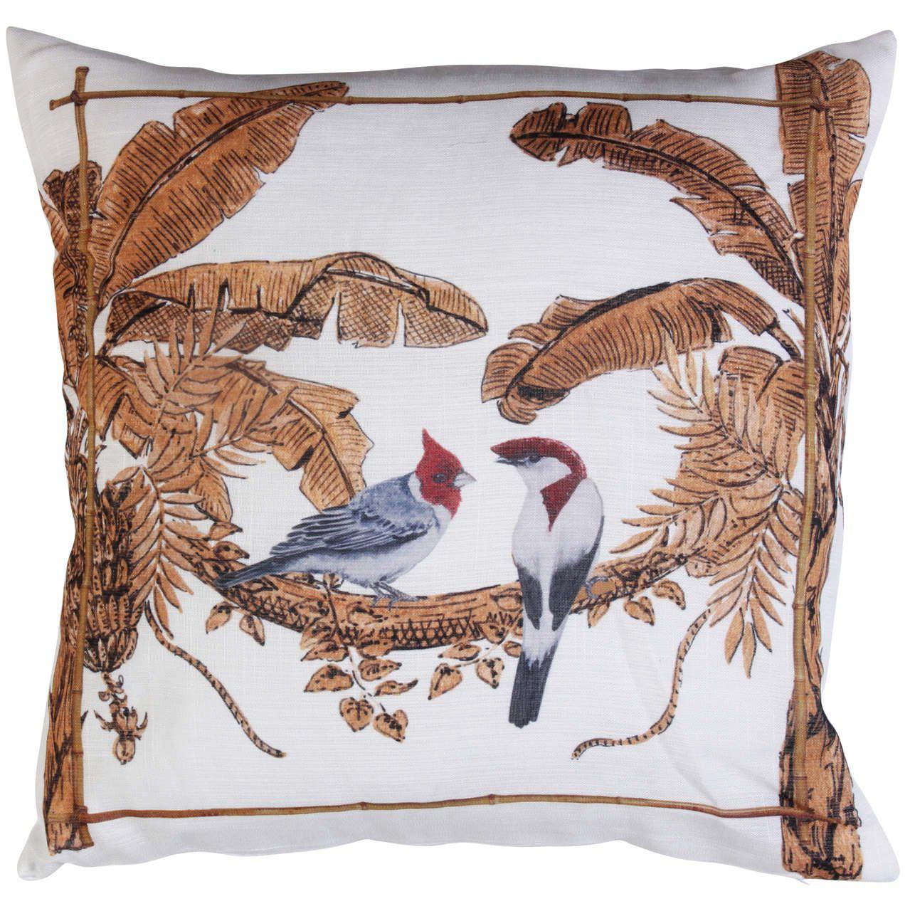 Almofada Golden Forest Casal Pássaros Cód.: 3607 - MB