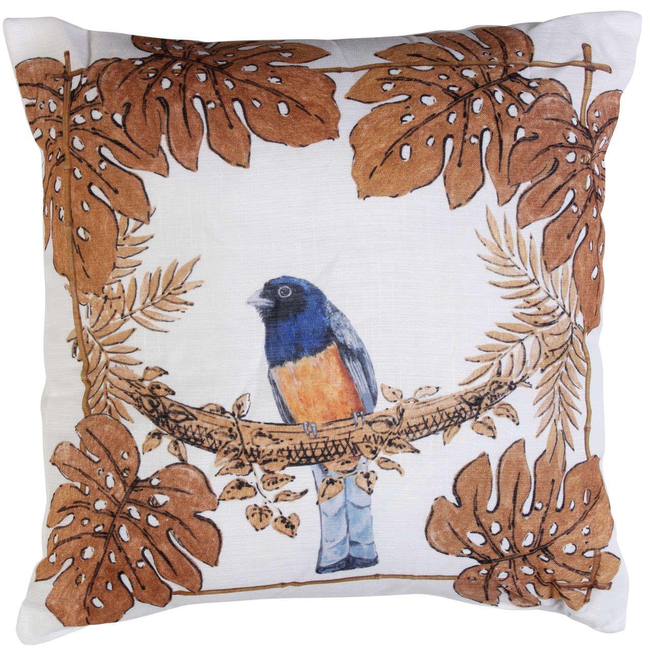 Almofada Golden Forest Pássaro Azul Cód.: 3561 - MB