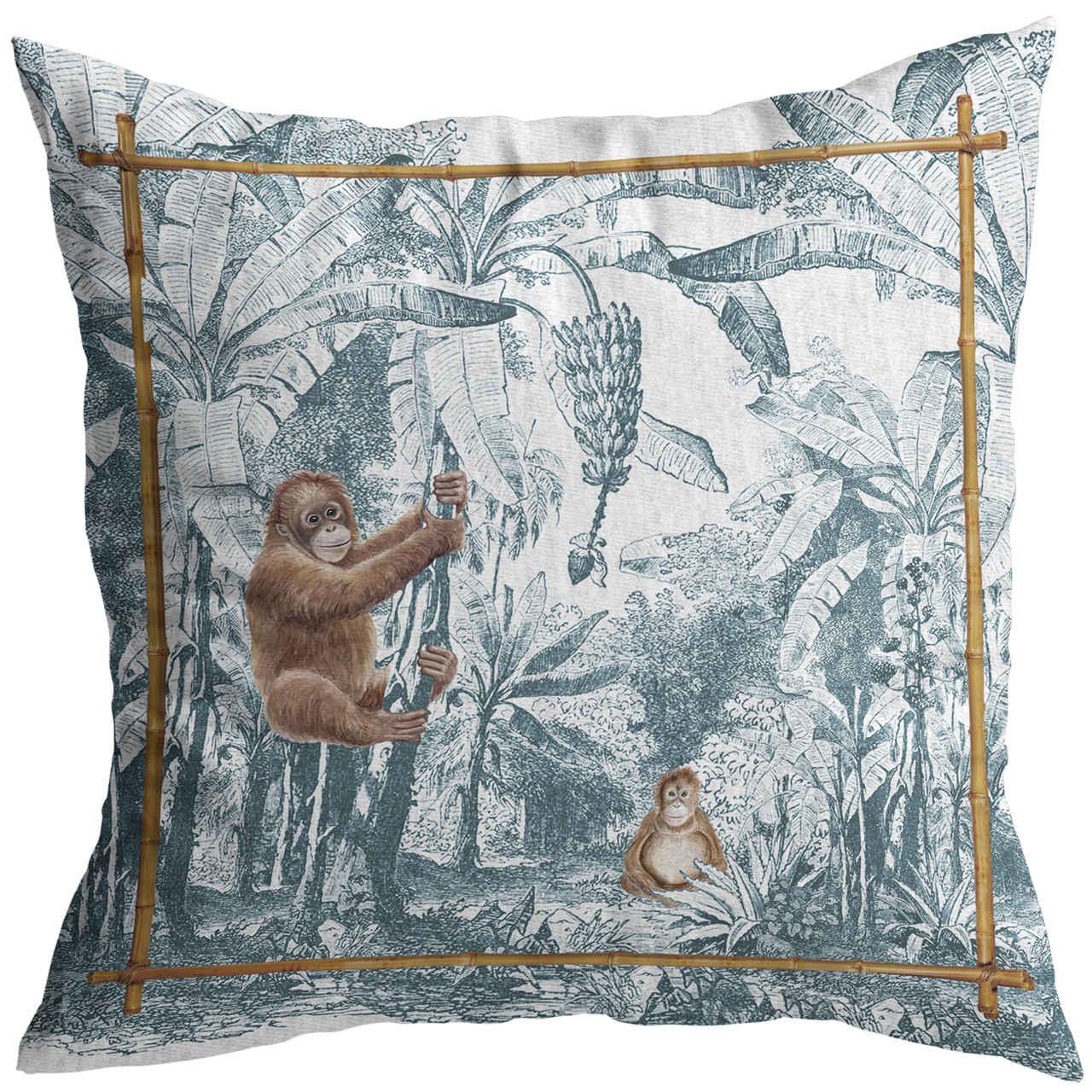 Almofada Macaco African Toile Cód.: 4136 - MB