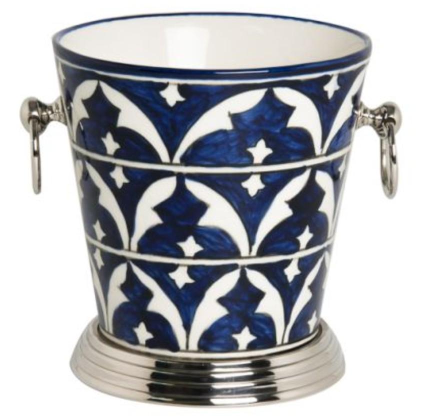 Balde de Cerâmica para Gelo pintado à Mão - Cód: 42.036 - RP