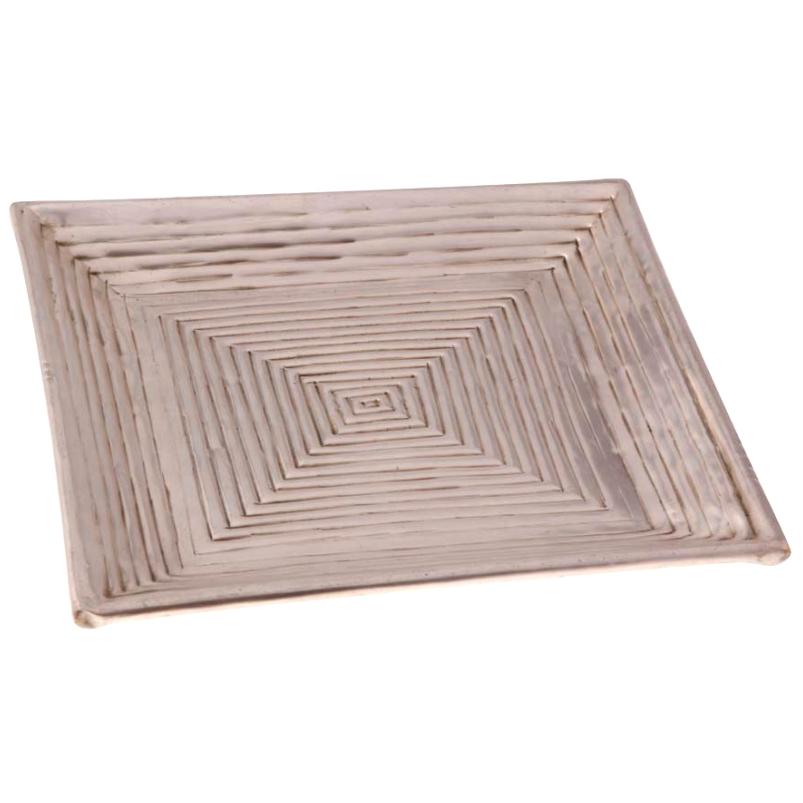 Bandeja de Bronze Square 27x27cm - Cód. 1540