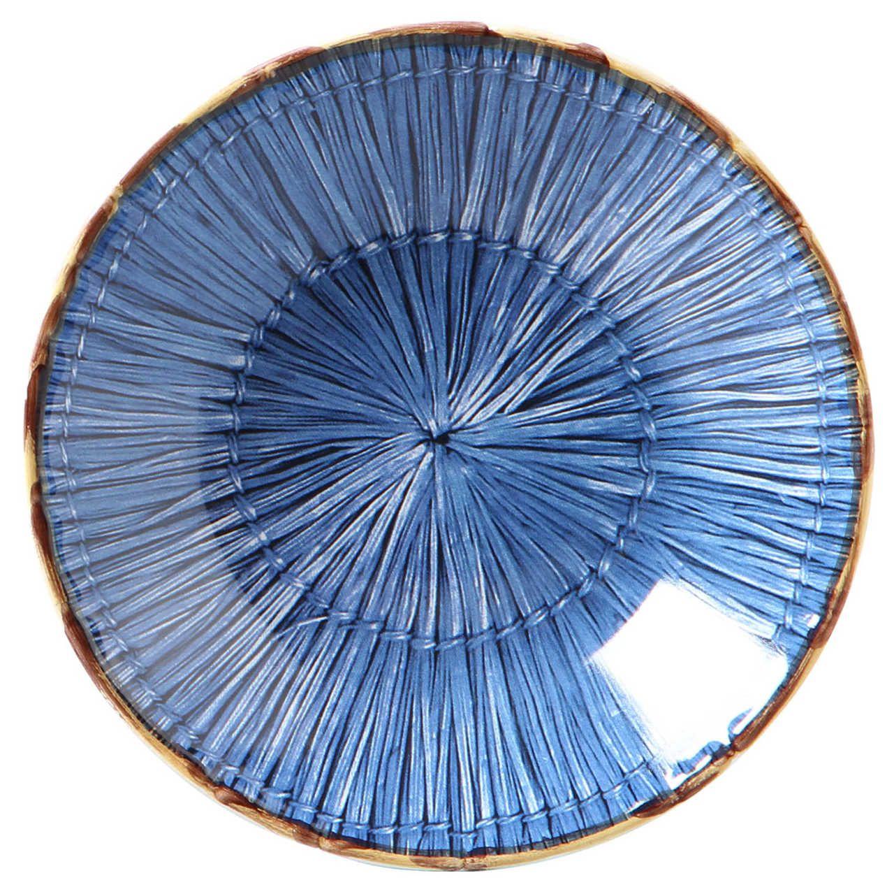 Prato Fundo Palha Azul Marinho (06 Unidades) - MB
