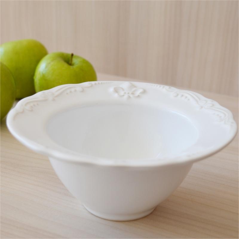 Bowl Flor de Lis Branco (6 Unidades)