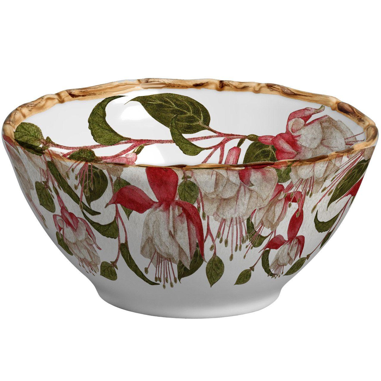 Bowl Fuchsia Flowers (06 Unidades) Cód.: 6428 - MB