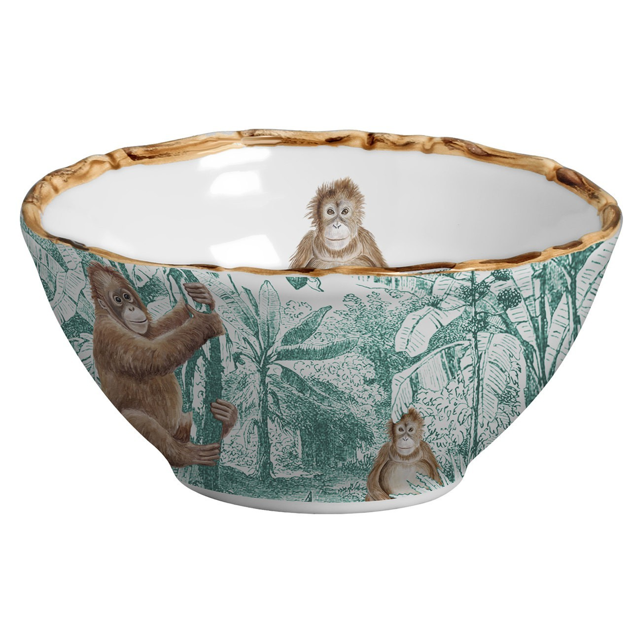 Bowl Macaco African Toile (06 Unidades) Cód.: 6106 - MB