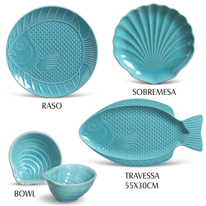 Bowl Ocean Azul Poppy (6 Unidades)