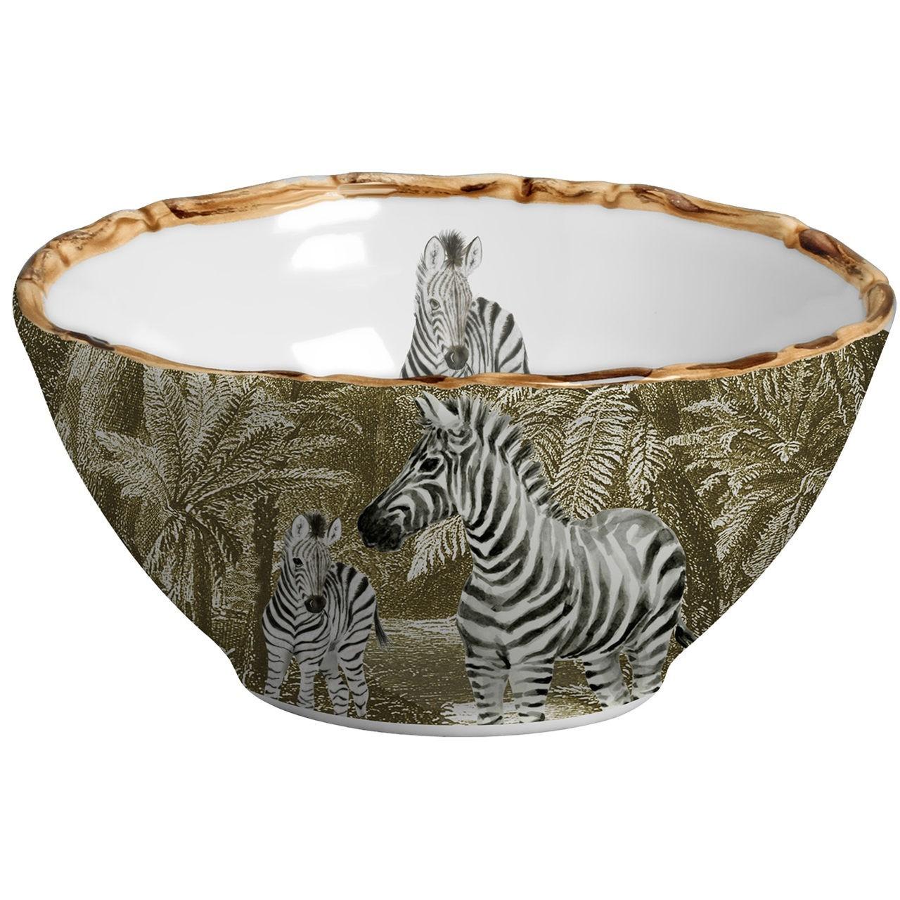 Bowl Zebra African Toile (06 Unidades) Cód.: 6074 - MB