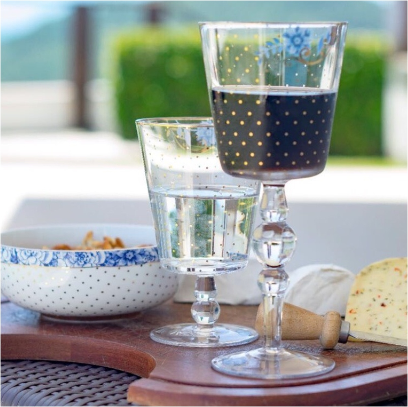 Taça de Água Golden Dots Royal Pip Studio