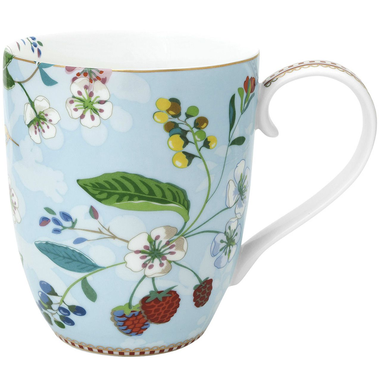 Caneca Extra Grande Hummingbirds Azul - Floral - Pip Studio