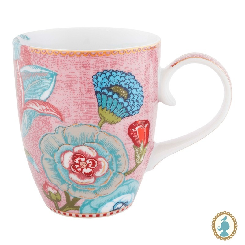 Caneca Grande 350ml Flower Rosa - Spring to Life