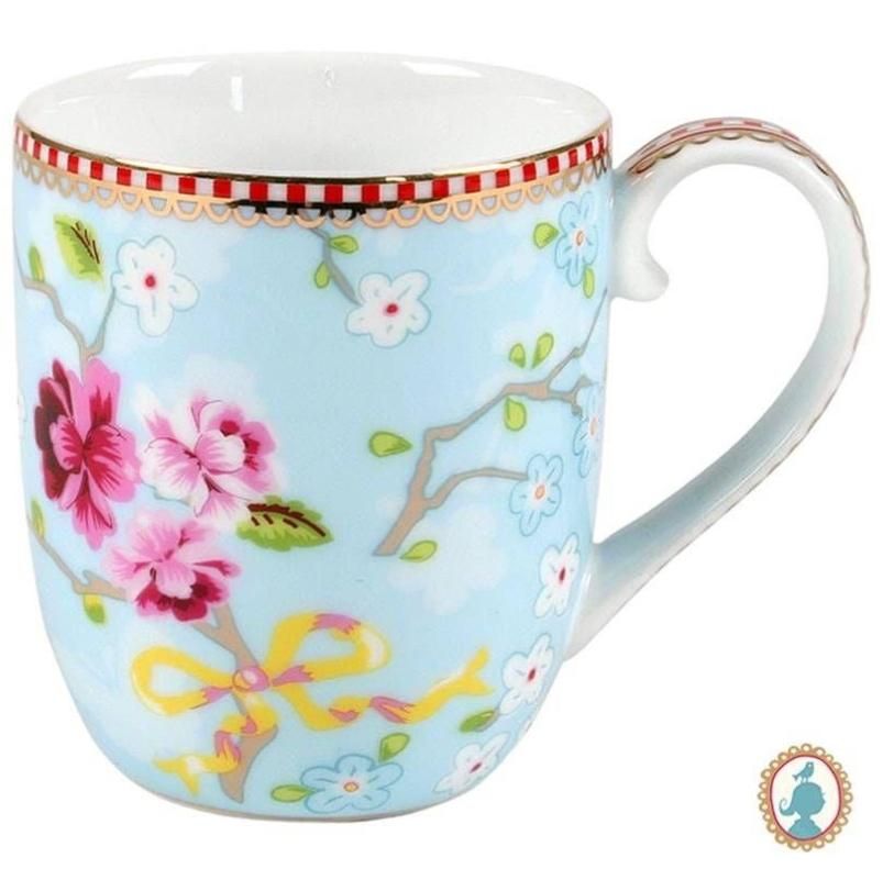 Caneca Pequena Chinese Azul Floral Pip Studio