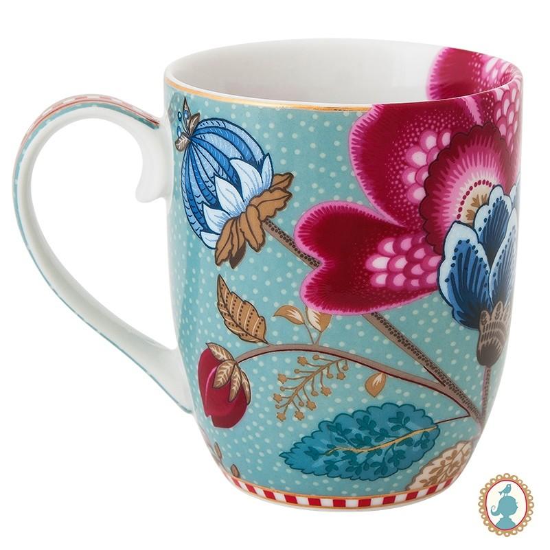Caneca Pequena Fantasy Azul - Floral Fantasy