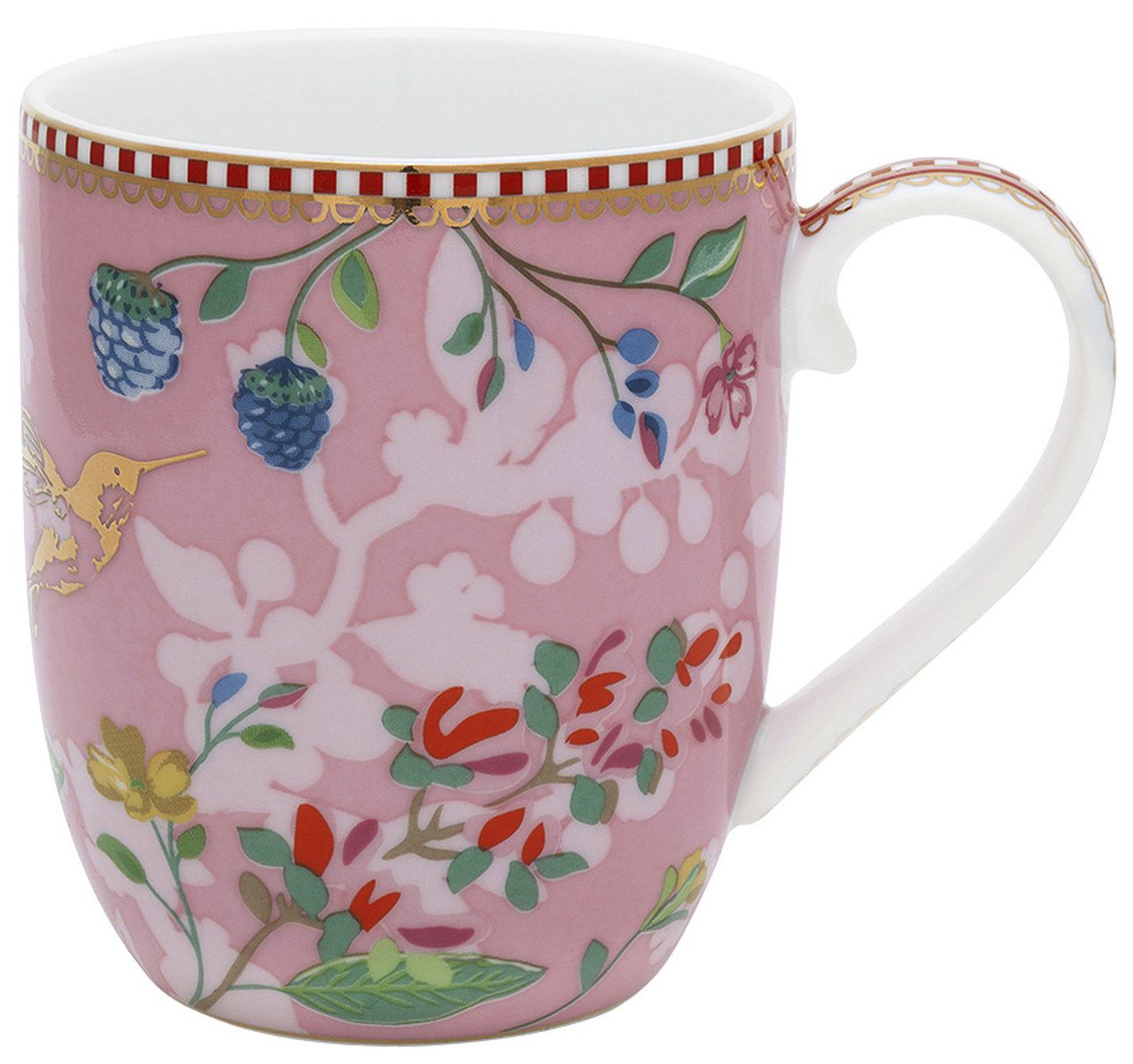Caneca Pequena Hummingbirds Rosa - Floral - Pip Studio