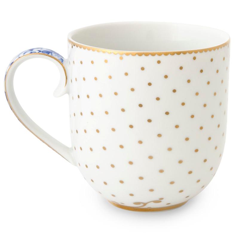 Caneca Pequena Dots - Royal White