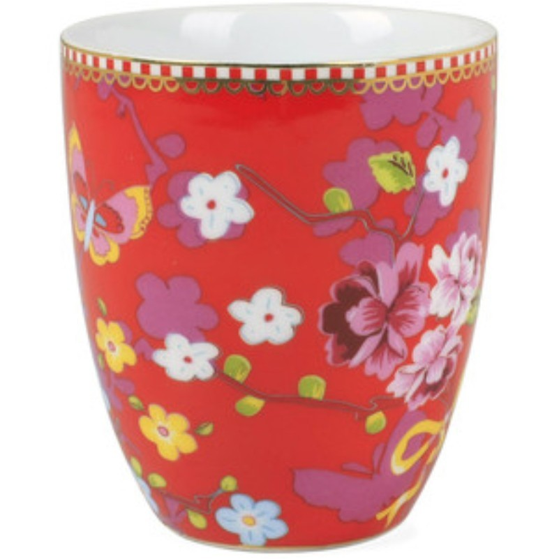 Caneca s/ Alça Chinese Rosa - Floral - Pip Studio