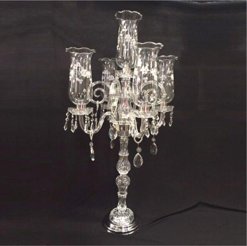 Castiçal de Cristal Transparente - Cód.: FCN107CH - FR