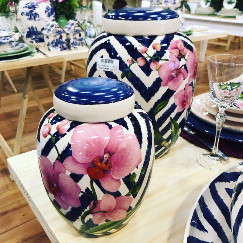 Conjunto 2 Potes Orquídeas 30cm e 20cm - LS