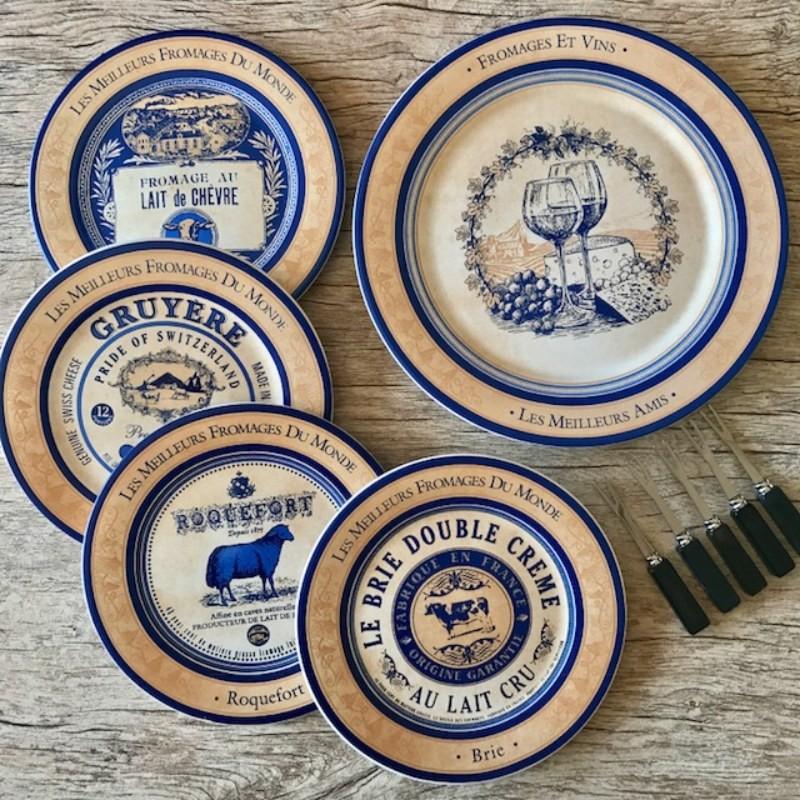 Conjunto para Queijos - 4 pratos e 1 tábua