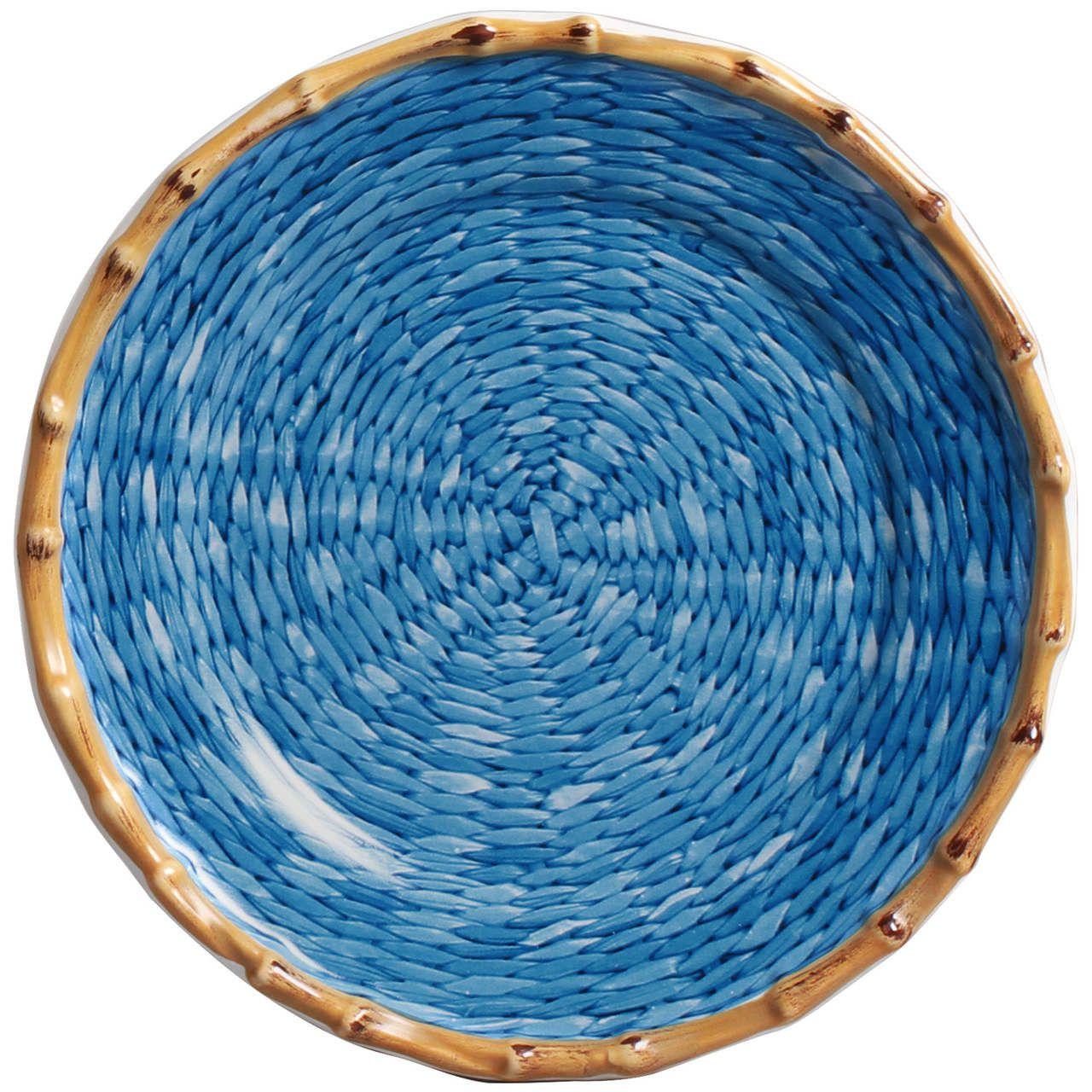 Prato Sobremesa Corda Fina Azul (06 Unidades) Cód.: 6216 - MB