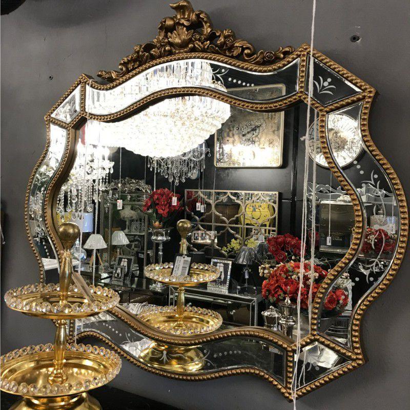 Espelho Poliresina Dourado - Cód.: FRM174