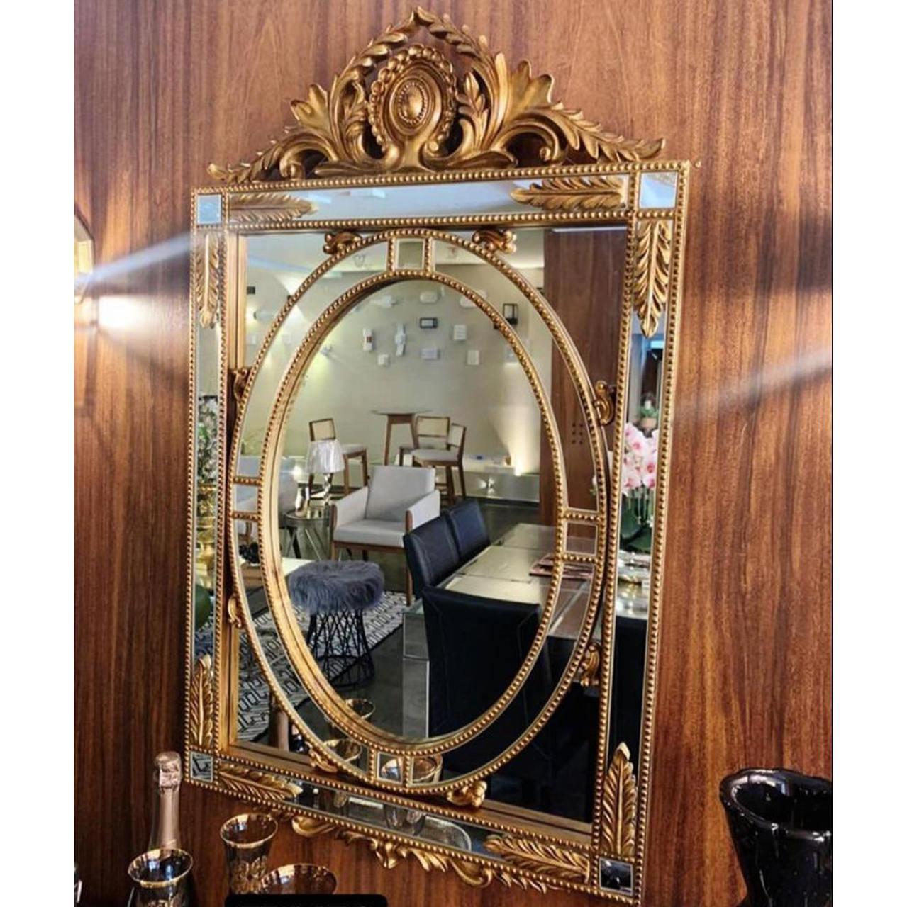 Espelho Poliresina Dourado - Cód.: FRM79 - FR