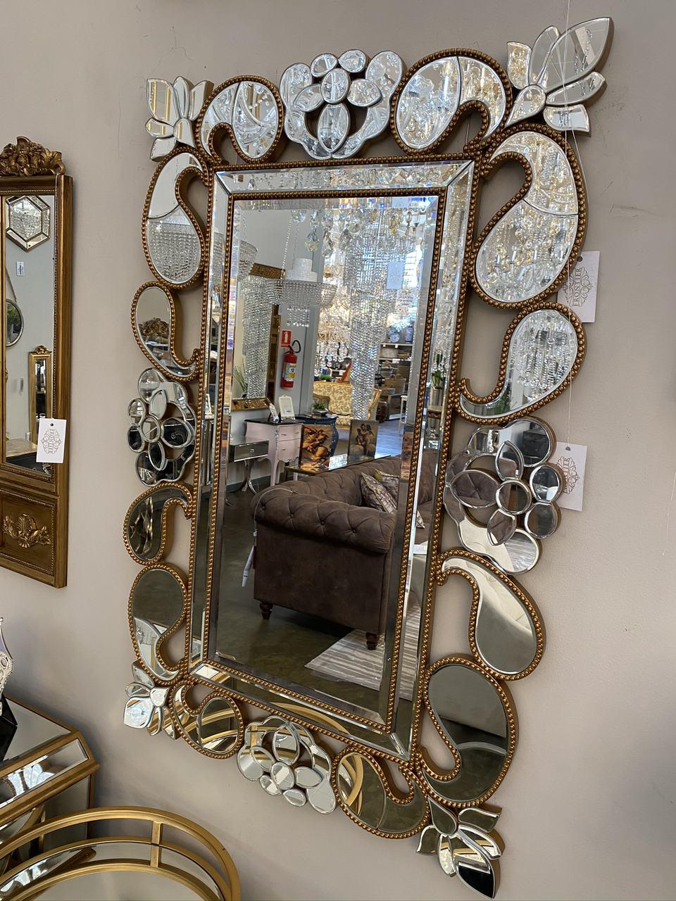 Espelho Poliresina Dourado - Cód.: WM966 - FR