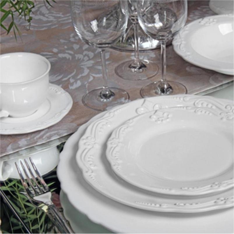 Flor de Lis Branco - Aparelho de Jantar 20 Peças (4 Pessoas)