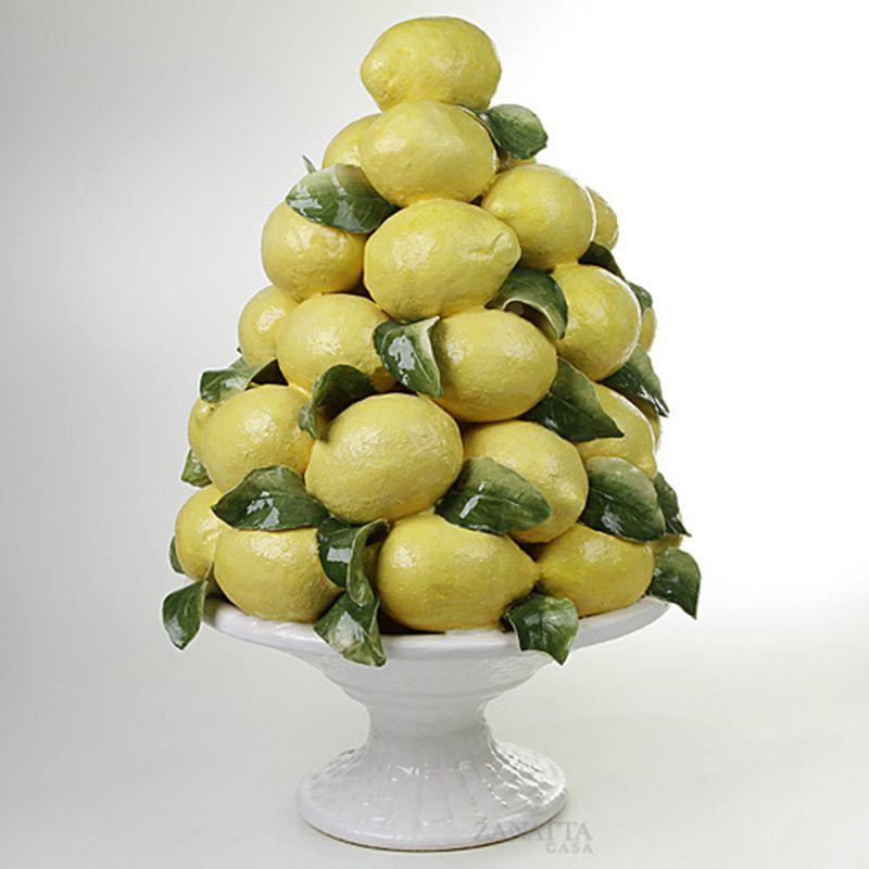 Fruteira Bom Retiro de Limões e Folhas - 63cm Alt. - Cód.: 012300900071 - ZC