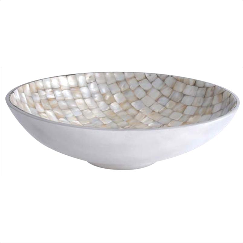 Fruteira Mosaico de Madrepérola e Alumínio - Cód. 0419