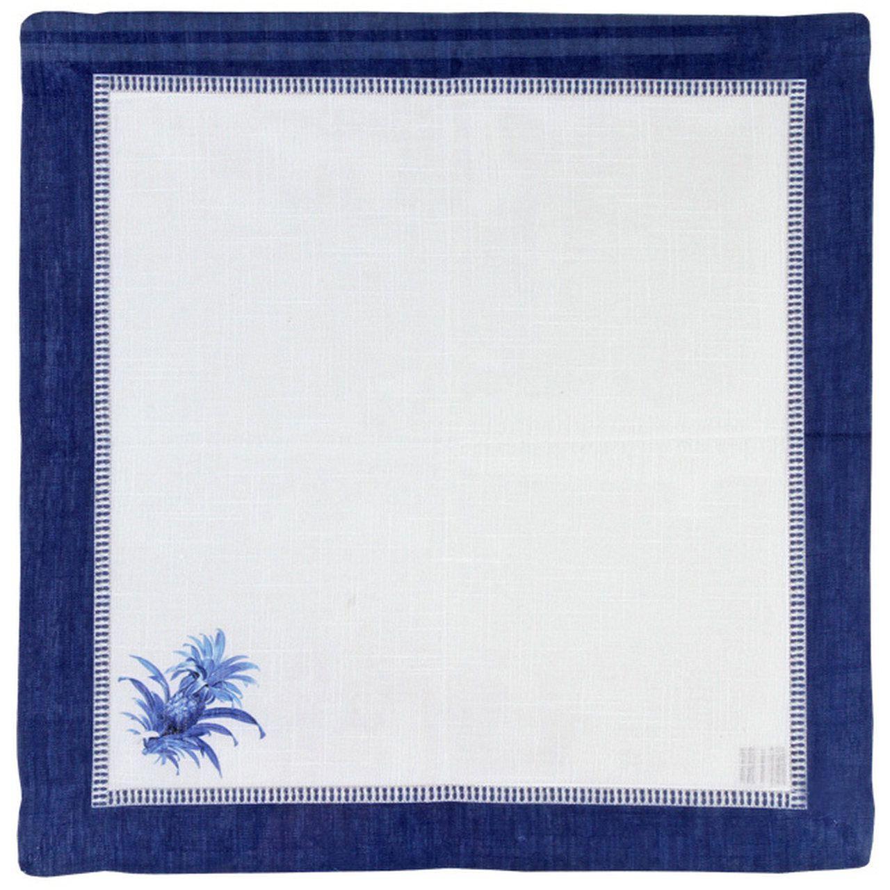 Guardanapo de Linho Abacaxi Azul Royal (06 Unidades) Cód.: 1428 - MB
