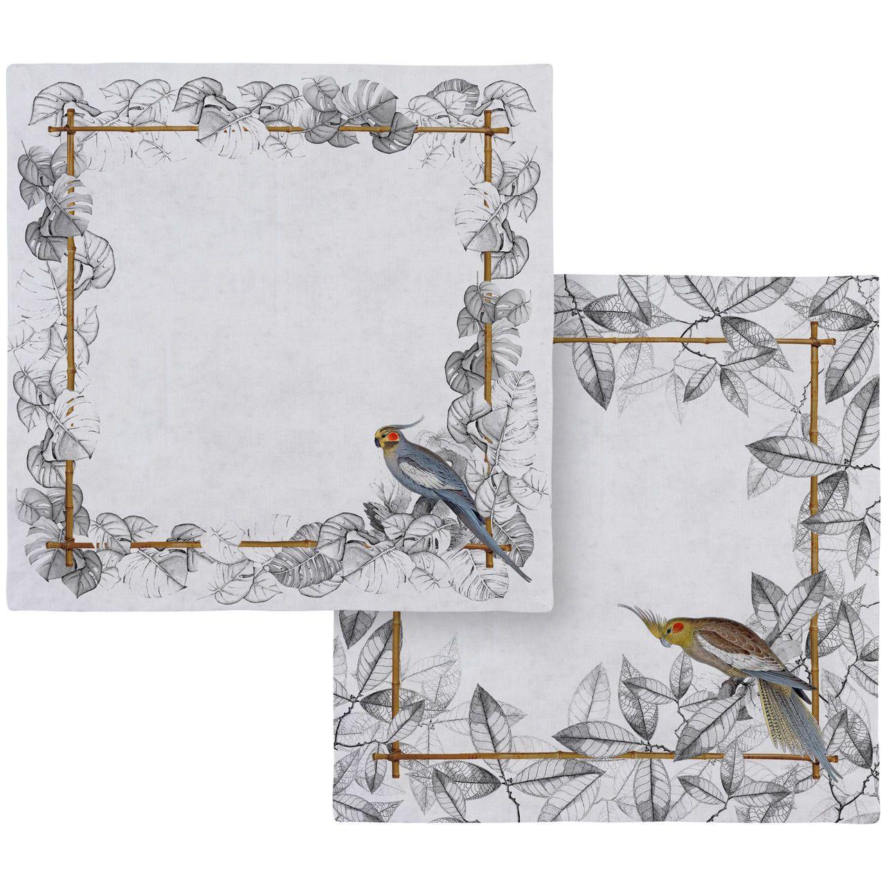Guardanapo de Linho Colorfull Birds (06 Unidades) Cód.: 3885 - MB
