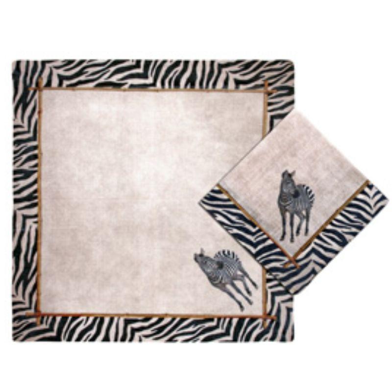 Guardanapo de Linho com Borda Zebra (06 Unidades)