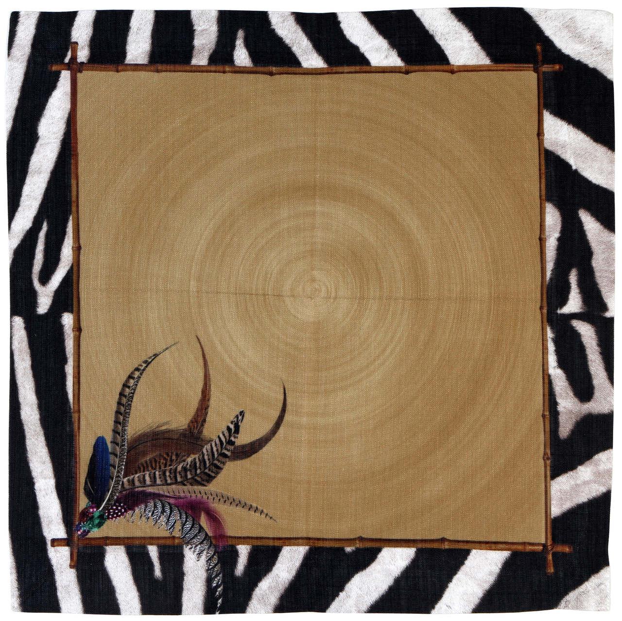 Guardanapo de Linho Durban Zebra com Dourado (06 Unidades)