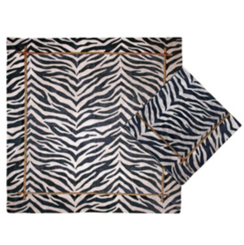 Guardanapo de Linho Estampado Zebra (06 Unidades)