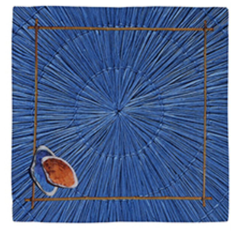 Guardanapo de Linho Mustique Palha Azul (06 Unidades)