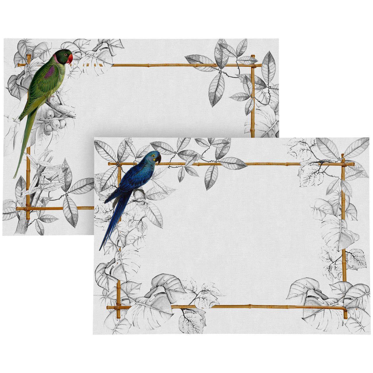 Jogo Americano de Linho Colorfull Birds (06 Unidades) Cód.: 3884 - MB