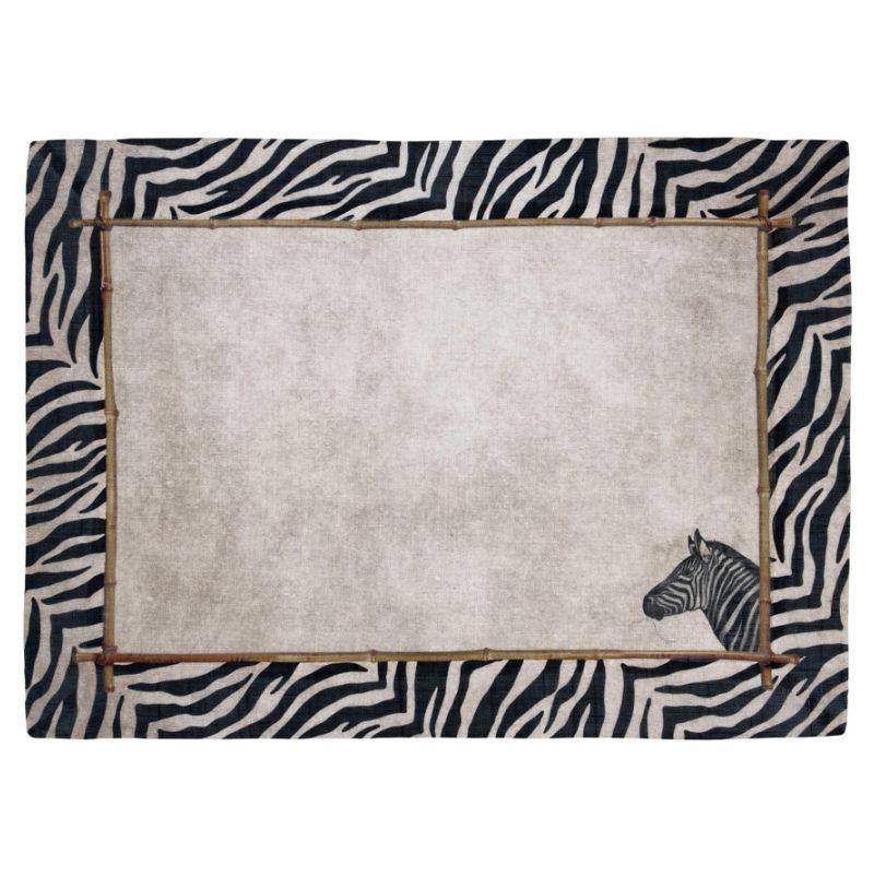 Jogo Americano de Linho Zebra (06 Unidades) - MB