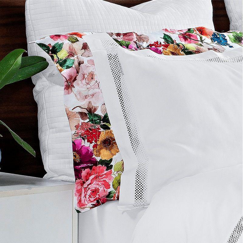 Kit Capa de Edredom Dolce Vitta Floral Colorido - Queen - Cód 8281