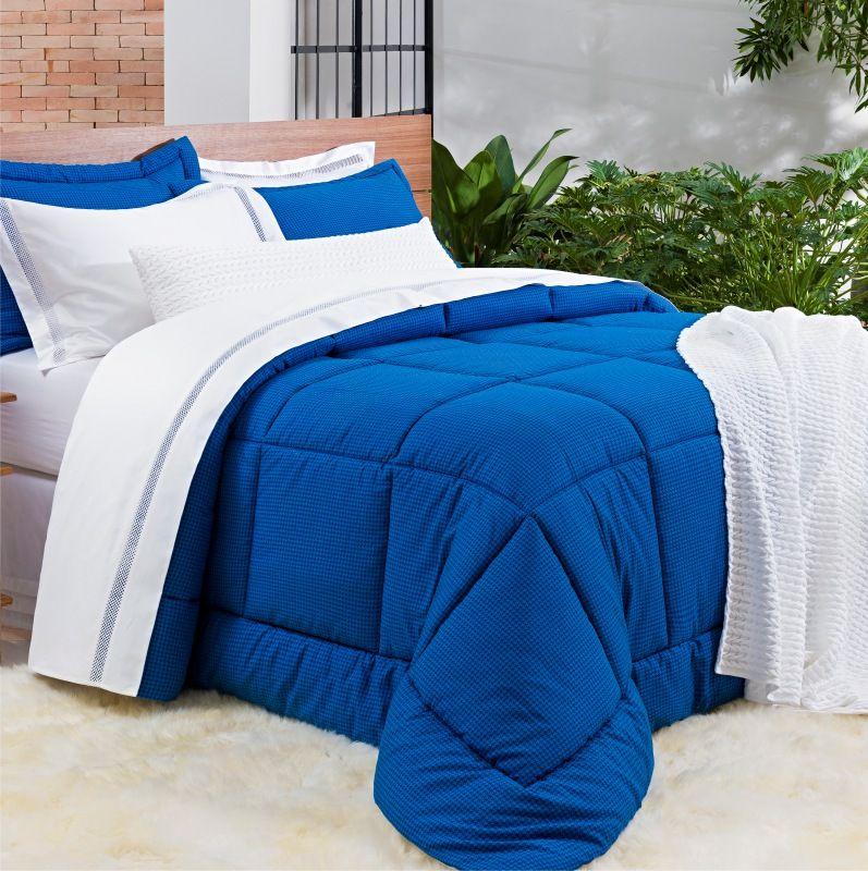 1fdbd53a01 Kit Edredom Dolce Vitta - Azul - King - 3 Peças - Cód. 8913 - Morar Chic