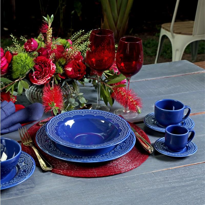 Madeleine Azul Navy - Aparelho de Jantar 20 Peças (4 Pessoas)